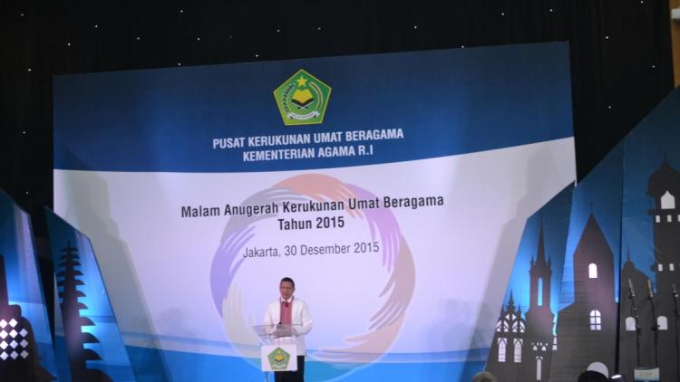 Malam Anugerah Kerukunan Umat Beragama Tahun 2015