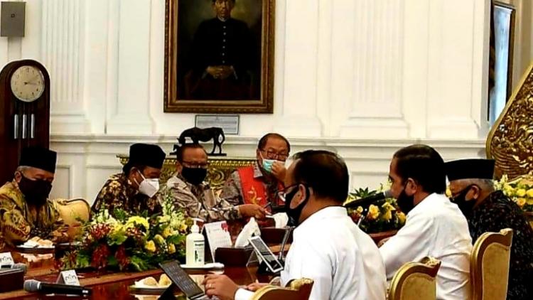Presiden Jokowi Temui Tokoh Agama di Istana Negara