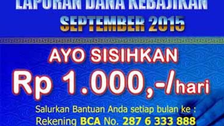 Dana Kebajikan September 2015